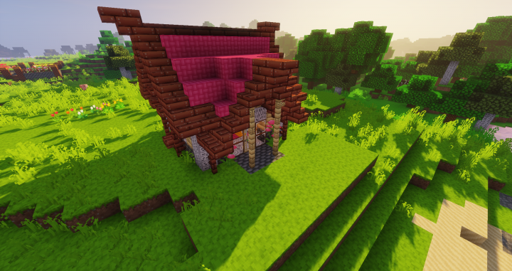 Little pink house - Taken with Sildur's Vibrant Shaders -Medium