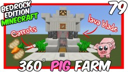 360° Pig Farm w/Crops Bedrock Edition Minecraft Map & Project
