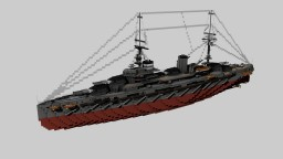 French Battleship Bretagne 1915 1:1 Minecraft Map & Project