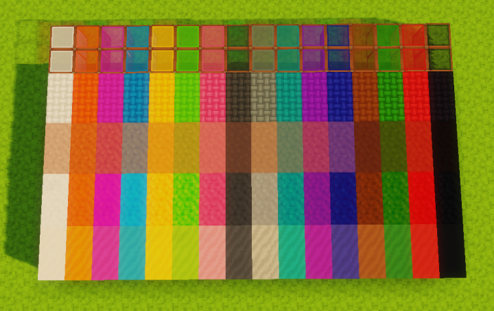 Colored blocks - Taken with Sildur's Vibrant Shaders -Medium