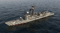 USS Oliver Hazard Perry || FFG-7 Minecraft Map & Project