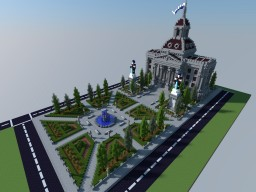 SimCity 4 Town Hall Minecraft Project