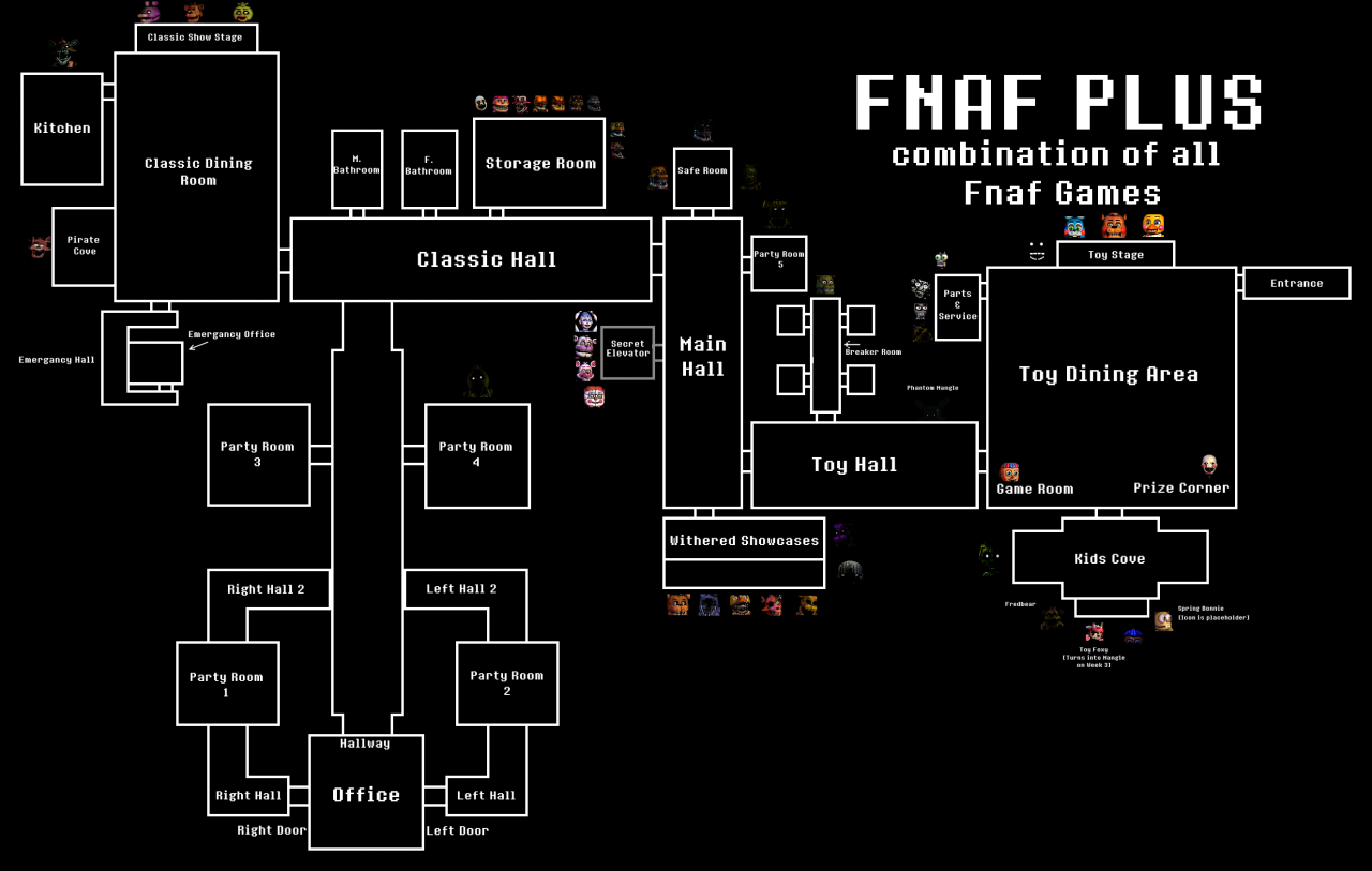 How To Draw A Floor Plan For A House All Fnaf Maps Combined Minecraft Project