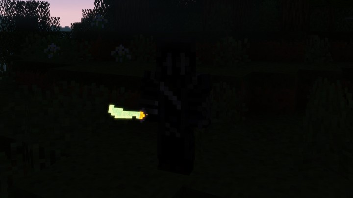 Ingame Glowing Diamond Sword.