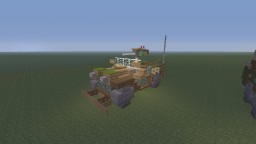 WWII U.S Willys Jeep MB 4x4 with M2 Browning and covered Minecraft Map & Project