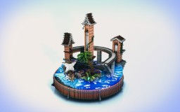 Pirate Play Ground | small 111x111 circular build Minecraft Map & Project