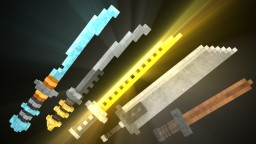 3D Glowing Swords Pack | 1.8-1.13 Minecraft Texture Pack