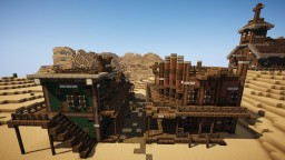 Wild Western General Store, Sheriff's and Church Minecraft Project