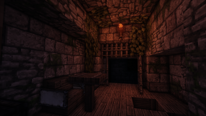 And a small dungeon. I'm planning to add a sewer system in the future for a possible escape route.
