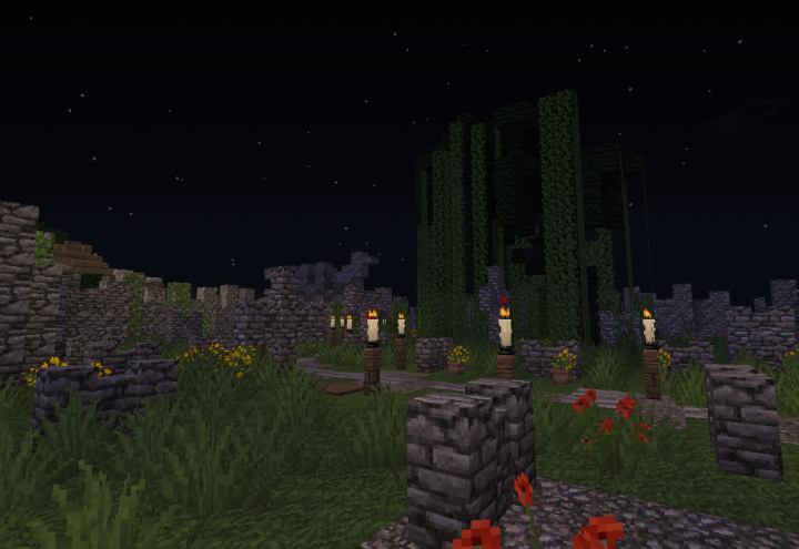 A Graveyard at Night.