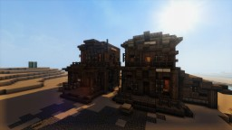 Wild Western themed two random houses Minecraft