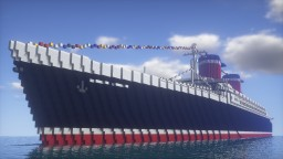 America's Flagship | SS United States | 1.5:1 Scale Minecraft Map & Project