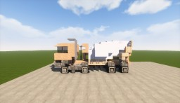 Cement mixer truck Minecraft