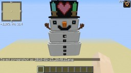 burning map ''snow man'' for popularMMos Minecraft Project