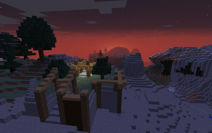 Sunset overview of spawn.