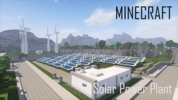 Minecraft Solar Power Plant and Wind Turbines Minecraft