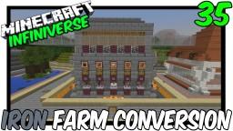"""Iron Farm Conversion"" [35] Minecraft Bedrock Infiniverse Minecraft Map & Project"