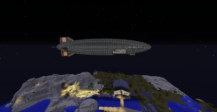 The Hindenburg at night