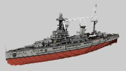 French battleship Bretagne 1935 refit 1:1 Minecraft