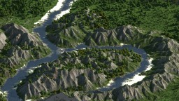Mountain valley 9000x9000 Minecraft Map & Project