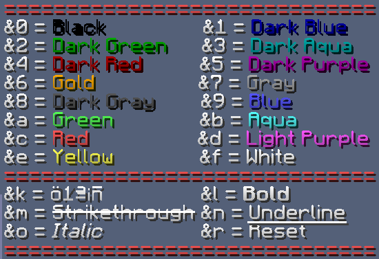 Colored Entity or Item names generator!