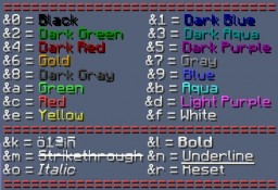 Bukkit Color Codes Minecraft