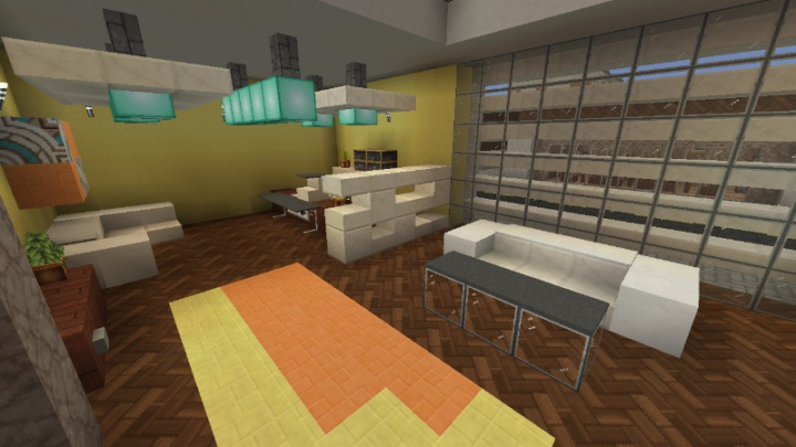 Here is the registeration lobby with a neat divider.