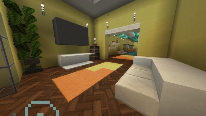 Another lobby next to the parking lot and with a GYM membership you can hop right in.