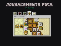 Advancements Pack by olek128 Minecraft Mod