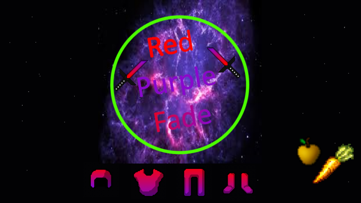 Popular Texture Pack : Red Purple Fade 1.8 - 1.12.2