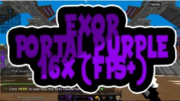 Exor Portal Purple 16x (FPS+) Minecraft Texture Pack