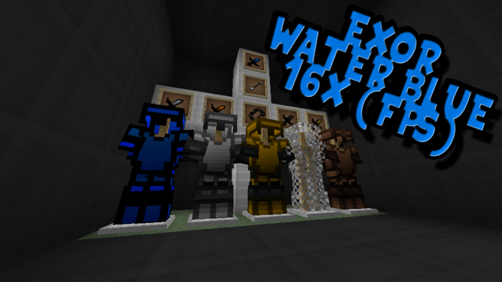 Popular Texture Pack : Exor Water Blue 16x (FPS)