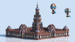 Plaza & Balloons Minecraft Map & Project