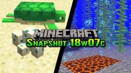 Minecraft Snapshot 18w07c | Breeding Turtles & Bubble Columns Minecraft Blog Post