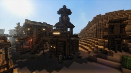 Wild Western Fire Station and Water Tower Minecraft Map & Project