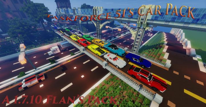 Popular Mod : [Flan's] TaskForce51's Car Pack (1.7.10) 1.0.0