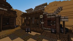 Wild Western Blacksmith, another two random houses, overview of the town Minecraft Project