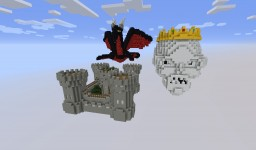 Burning medieval map for PopularMMOs (Pat and Jen) Minecraft Project