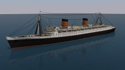 RMS Queen Elizabeth - 3:1 Scale Minecraft