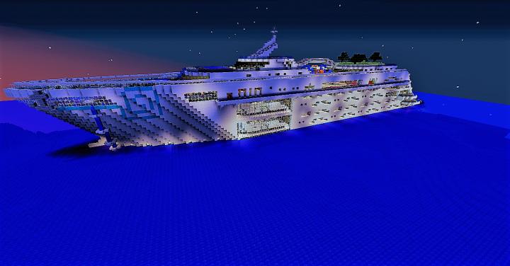 Aurora Oceanum at night