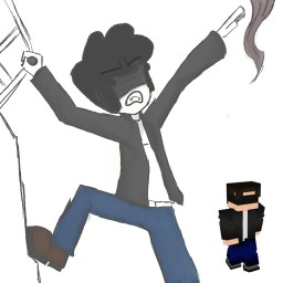 A Coloured Sketch of my Minecraft Character Minecraft Blog