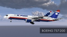 Avteam Boeing 757-200 Minecraft Map & Project