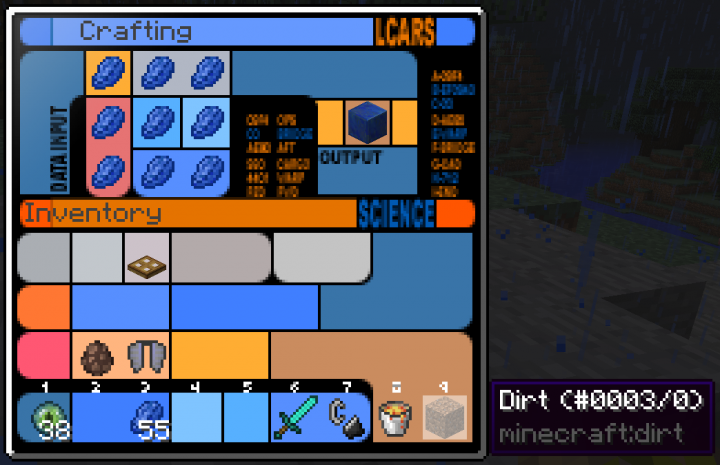 LCARS Crafting Table GUI - 1.11 version without recipe book