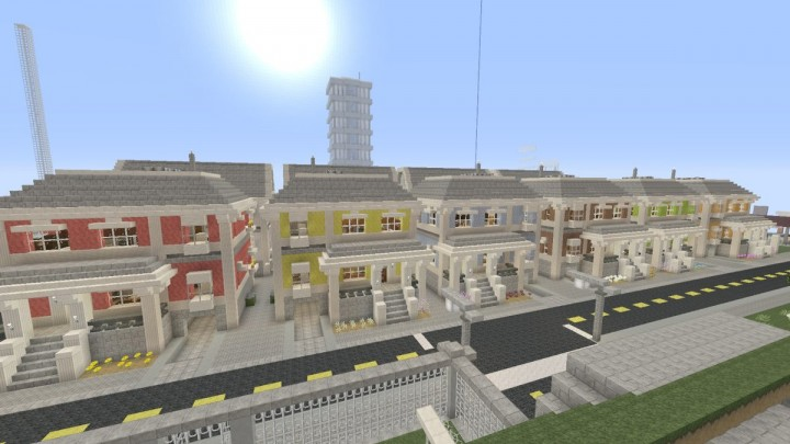 Traditional Townhouses Minecraft Project