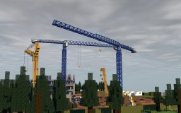 "Appartment Complex ""Gercen-Park"" (Gercen Square) at construction Minecraft Project"