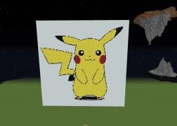 Pikachu Pixel Art (Under Progress) Minecraft Map & Project