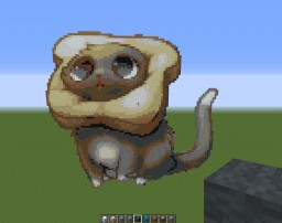 Cat Bread Pixel Art Minecraft Project