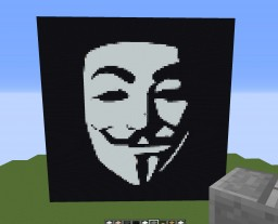 Anonymous Mask Pixel Art Minecraft Project