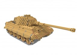 Pz6B Tiger II (10:1 scale) Minecraft Map & Project