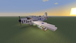 "Douglas A-1H Skyraider ""Papa Tiger II"" Attack plane Minecraft Map & Project"